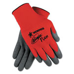 Memphis Glove Ninja Flex Latex Coated Palm Gloves N9680L, X-Large, Red/Gray, 1 Dozen