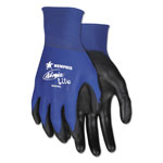 Memphis Glove Ultra Tech Tactile Dexterity Work Gloves, Blue/Black, Medium, 1 dozen