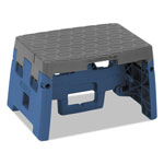 "Cosco One-Step Folding Step Stool, 300 lb, 8 1/2"" Working Height, Blue/Gray"