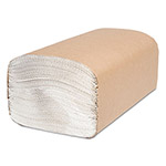 Cascades North River Folded Towels, Single-Fold, White, 9 1/8 x 10 1/4, 250/Pack,4000/Ctn