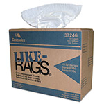 Cascades Like-Rags Spunlace Towels, White, 9 3/4 x 16 3/4, 150/Box, 6 Box/Carton
