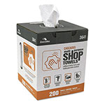 Cascades Multi-Purpose Shop Towels, White, 9 x 13, 200/Box, 8 Box/Carton
