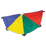 CH Nylon Multicolor Parachute, 20ft diameter, 8 Handles