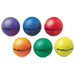 "Champion Rhino Skin Ball Sets, 6.5"", Blue, Green, Orange, Purple, Red, Yellow, 6/Set"