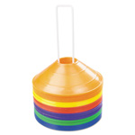 CH Saucer Field Cones, Set of 8 Assorted Color Cones