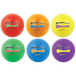 "CH Super Squeeze Soccer Ball Set, 8"" Diameter, Assorted Colors, 6/Set"