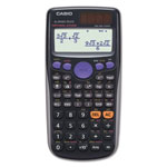 "Casio Scientific Calculator, 3.15"" x .44"" x 6.38', Textbook Display, BK"