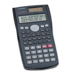 Casio FX-300MS Scientific Calculator, Algebraic 10 x 2 Display, Protective Case