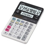 Casio JV220 Dual Display Desktop Calculator, 12-Digit LCD, 4-1/4 x 7-1/4