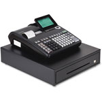 "Casio Thermal Print Cash Register, 15"" x 17"" x 8-3/5"", Black"