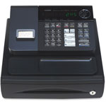 "Casio Single Printer Cash Register, 13"" x 14"" x 7-2/5"", Black"