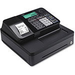 "Casio Thermal Print Compact Register, 12-4/5"" x 13-1/2"" x 6-1/2"", BK"