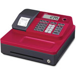 "Casio Thermal Cash Register, 12-4/5"" x 13-1/2"" x 6-1/2"", Red"