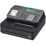 Casio Thermal Cash Register, Single Tape, Silver/Black