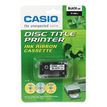"Casio Thermal Ink Ribbon for CW50/CW75 Disc Title Printers, 3/4""w, Black"