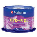 Verbatim DVD+R DL X 50 - 8.5 GB - Storage Media