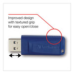 Verbatim Classic USB 2.0 Flash Drive, 2GB, Blue