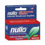 Monticell Drug Nullo Deodorant Tablets, 60