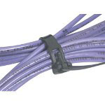 "Box Partners 8"" x .295"" Black Releasable Cable Ties 50 # Tensile Strength"