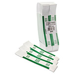 MMF Industries Self-Adhesive Currency Straps, Green, $200 in Dollar Bills, 1000 Bands/Pack