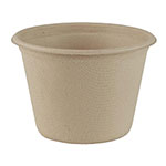 World Centric 4 oz Cups, Unbleached Plant Fiber, Compostable