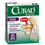 Curad Sheer Bandages - Sheer, Assorted, 80Ea/Bx