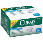 Curad Alcohol Swabs - Pad, Prep, Alcohol, Sterile, Medium