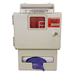 Covidien Locking Wall Mount Sharps Cabinet w/Glove Box Holder, 5 qt, 13 x 5 x 18.5, Beige