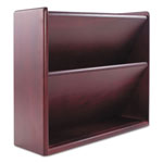Carver Wood Products Double Wall File with Supplies Ledge, Mahogany Finish