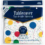 Creative Converting 37170 Round Balloons Plastic Table Cover, 72""
