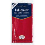 "Creative Converting 38227 Real Red Plastic Tablecover, 54"" x 108"""