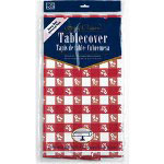 "Creative Converting 39188 Red Gingham Plastic Tablecover, 54"" x 108"""