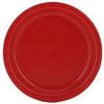 "Creative Converting Disposable 9"" Paper Plates, Red, Pack of 24"