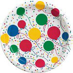 "Creative Converting Disposable 7"" Paper Plates, Balloon Pattern, 12 Packs of 25"