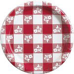 "Creative Converting Disposable 7"" Paper Plates, Red, Pack of 12"
