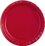 "Creative Converting Disposable 7"" Paper Plates, Red, 24 Packs of 25"