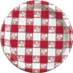 "Creative Converting Disposable 9"" Paper Plates, Red, Pack of 25"