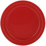 "Creative Converting Disposable 7"" Paper Plates, Red, Pack of 24"