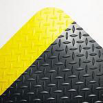 Crown Mats & Matting Deck Plate Vinyl Anti-Fatigue Mat, 36 x 12', Black & Yellow