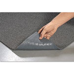 Crown Spaghetti Vinyl-Loop Floor Mat, Vinyl, 48 x 72, Gray