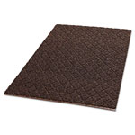 Crown Unbacked Diamond-Deluxe Duet Vinyl-Loop Floor Mat, Vinyl, 36 x 60, Brown/Caramel