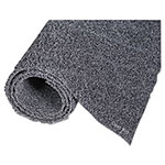Crown Diamond Deluxe Duet Vinyl-Loop Scraper Mat, Vinyl, 36 x 60, Gray/Black