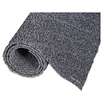 Crown Diamond Deluxe Duet Vinyl-Loop Scraper Mat, Vinyl, 48 x 240, Gray/Black