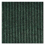 Crown Needle-Rib Wiper/Scraper Mat, Polypropylene, 36 x 48, Green/Black