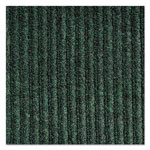Crown Needle-Rib Wiper/Scraper Mat, Polypropylene, 48 x 72, Green/Black