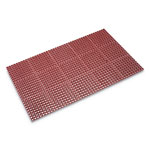 Crown Safewalk Heavy-Duty Anti-Fatigue Drainage Mat, Grease-Proof, 36x60, Terra Cotta