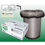 Aluf Plastics Can Liner, 56 Gallon, Black