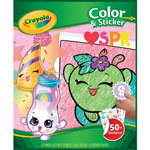 Crayola Shopkins Color/Sticker Coloriage, 32 Sheets