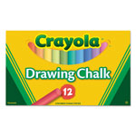 Crayola Colored Drawing Chalk, Assorted Colors 12 Sticks/Set
