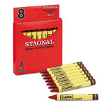 Staonal® Staonal Marking Crayons, Red, 8/Box